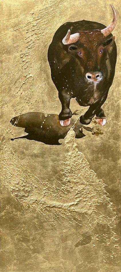 """Stier in göttlichem Licht IV"" / ""Bull in divine light IV"""